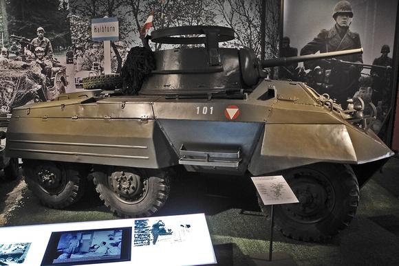 """""""Amerikanischer Spähpanzerwagen M8"""", Aufklärungseinheit, """"Austrian Armed forces"""", """"Austrian Army"""", B-Gendarmerie, HGM, """"Heeresgeschichtliches Museum"""", M-20, M-8, M8, """"M8 Greyhound"""", """"M8 armoured car"""","""