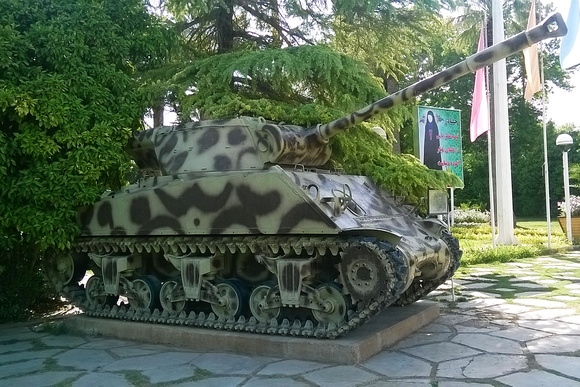"""""""90 mm Gun Motor Carriage M36B1"""", M36B1, M4A3, Sherman, Shiraz, """"Historical and military museum of Afif-Abad Garden"""", """"Afif-Abad Garden"""""""